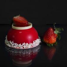 strawberry dome slice